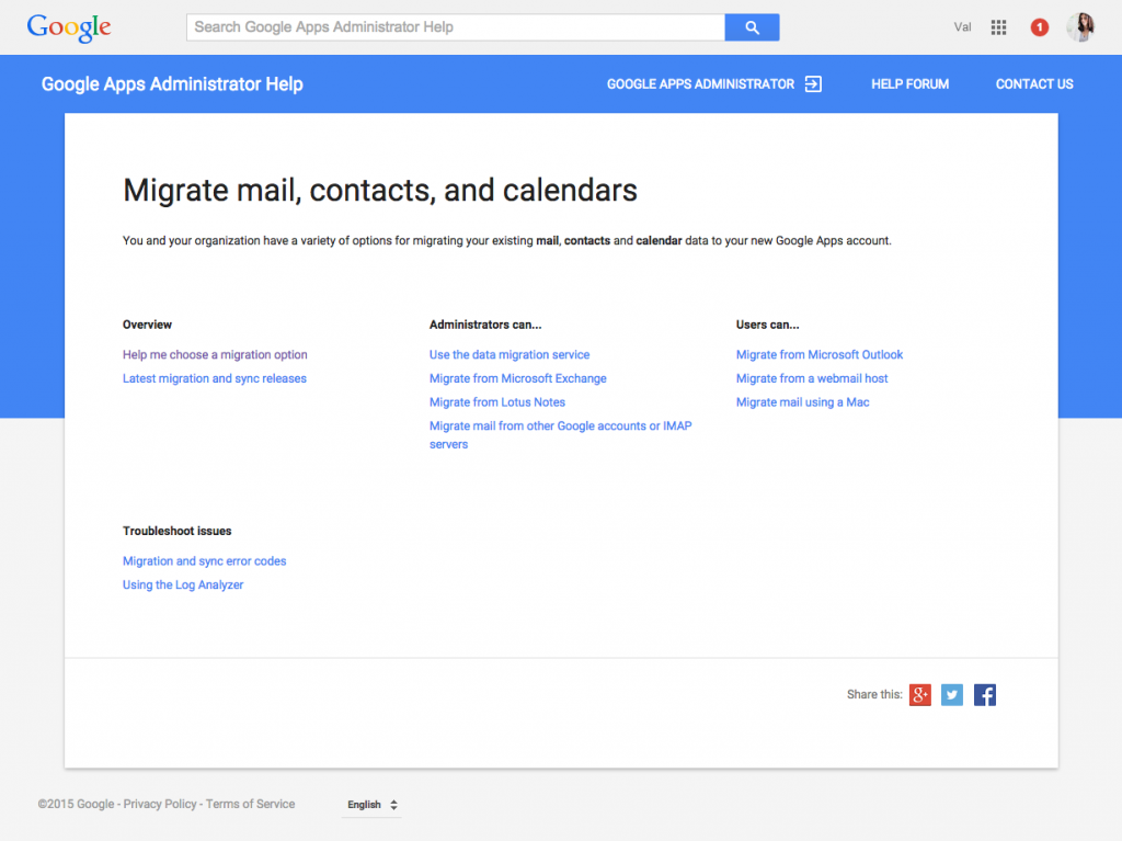 google apps for work migration