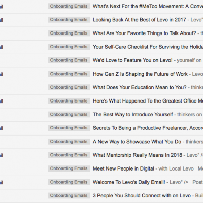 Email Onboarding Tear Down: Levo