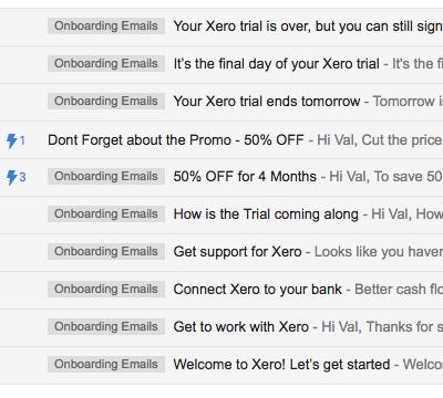 Email Onboarding Tear Down: Xero