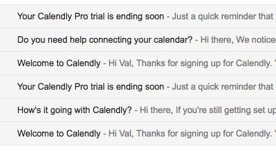 Email Onboarding Tear Down: Calendly