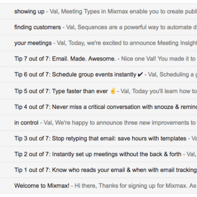 Email Onboarding Tear Down: Mixmax