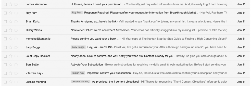 How do you turn a cold new subscriber into a warm lead? I analyzed the emails of over 50 copywriters to find out.